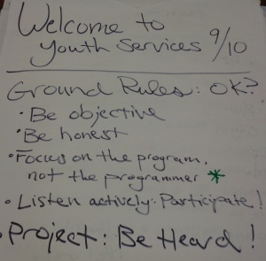 Youth Services Meeting Ground Rules